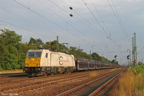 ECR 186 342 mit GA 46367 Achères-Triage/F - Nürnberg Rbf Ausfahrbahnhof (GEFCO), Mannheim-Waldhof 18.07.2015