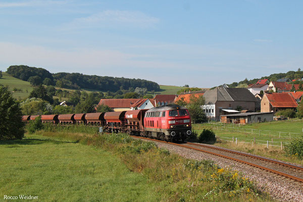 225 021 mit EK 55908 Einsiedlerhof - Rammelsbach Steinbruch, Rehweiler 11.09.2015
