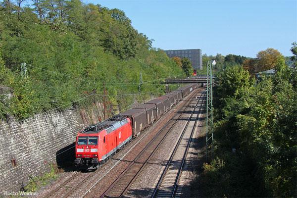 185 026 mit GA 48240 Einsiedlerhof - Forbach/F (Pamplona/E), Saarbrücken 01.10.2015