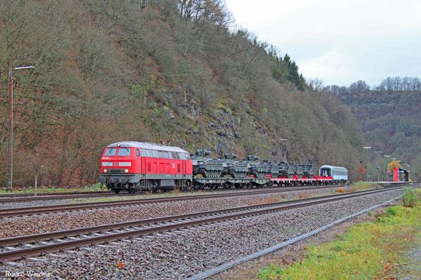 225 073 mit M 62516 Neunkirchen(Saar) Hbf - Baumholder (Sdl. Militär mit Bza), Heimbach(Nahe) 17.11.2015