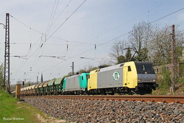 ITL 152 197 mit DGS 95387 Saarbrücken Rbf Nord - Schwarzkollm (Sdl.), Dudweiler 16.04.2015