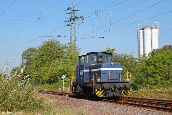 Rhenus Rail 551 014 am 21.08.2015 beim rangieren in Fürstenhausen