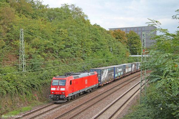185 016 mit GA 52981 Saarbrücken Rbf Nord - Köln-Eifeltor Bez III, Saarbrücken 25.09.2015