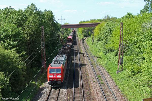 185 183 mit EZ 52081 Gremberg Gsf - Saarbrücken Rbf Nord (EV), Saarlouis-Roden 10.05.2015