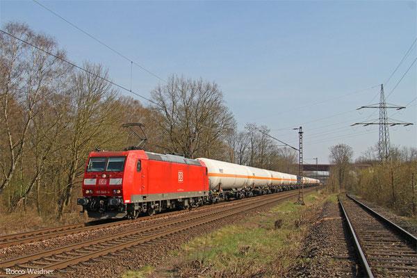 185 049 mit GC 49247 (Creutzwald/F) Saarbrücken Rbf Nord - Hüls AG, Dillingen(Saar) 08.04.2015