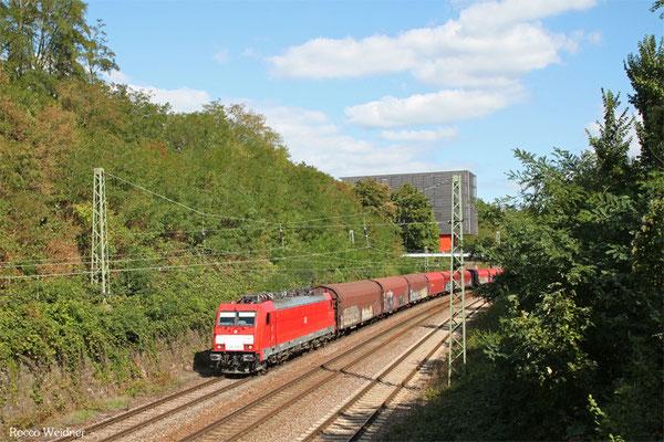 186 328 mit EZ 44210 Saarbrücken Rbf West - Blainville-Damelevières/F(EV Railnet France), Saarbrücken 09.09.2015