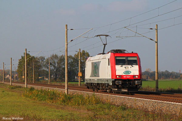 185 649 als Tfzf(D) 93277 Magdeburg-Rothensee Rmf - Pirna Gbf, Scmerkendorf 27.10.2015