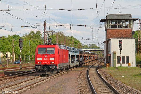 185 266 mit GA 47730 Dillingen DB/Ford - Venlo/NL (Vlissingen Sloeh), Dillingen(Saar) 29.04.2015