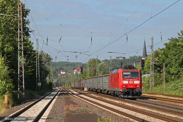 185 036 mit EZ 45661 Ehrang Nord - Homburg(Saar) Hbf, Dudweiler 10.09.2015