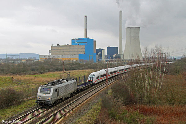 BB37028 mit DbZ 44428 Saarlouis - Forbach/F (Sdl.), Ensdorf 15.02.2016