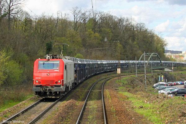 BB37531 mit DGS 44434 Saarbrücken Rbf Nord - Forbach/F (Sdl.), Saarbrücken 15.04.2016