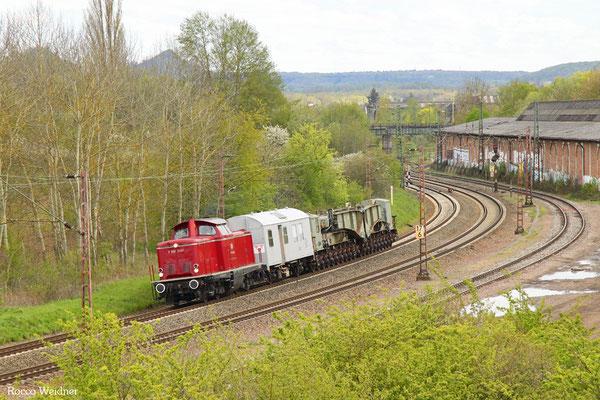 212 091 (VEB 212 209) mit DGS 62108 Vöhringen - Gerolstein (Sdl.), Bous 29.04.2016