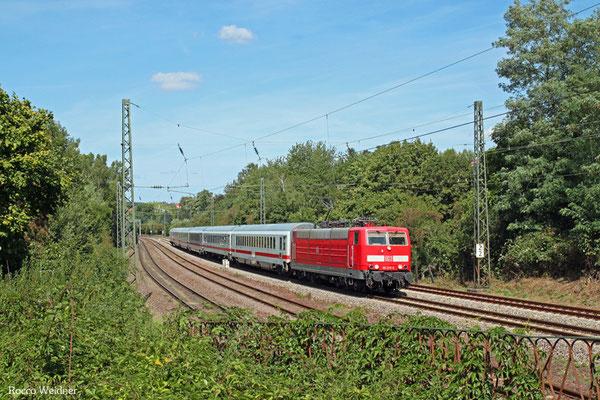 181 215 mit IC 2055 Saarbrücken Hbf - Heidelberg Hbf, 26.08.2015