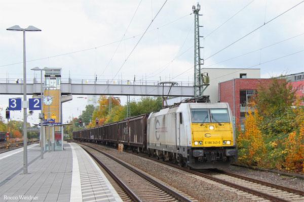 186 343 mit GA 62189 (Irun/E) Forbach/F - Kassel Rbf (Sdl. Autologistik), Saarbrücken-Burbach