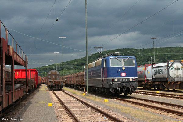 181 201 mit EK 55968 Saarbrücken Rbf West - Bous (Dillingen(Saar)), 29.05.2015