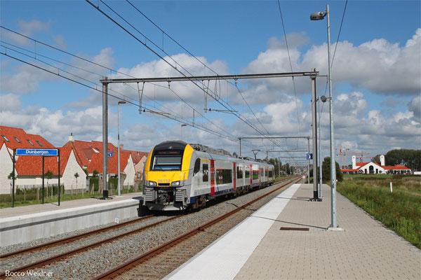 NMBS/SNCB 8192 als IC 1536 Genk - Knokke, Duinbergen 01.09.2015