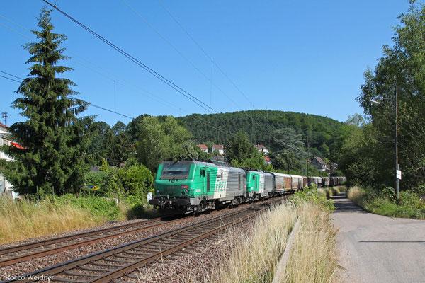 """SNCF FRET BB37019 (im Schlepp BB37014) mit """"Wasserzug"""", Scheidt 06.07.2015"""
