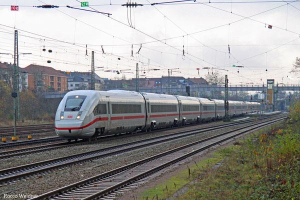Tz 9002 (ICE4) auf der Fahrt nach Trier, SB-Burbach 25.11.2015