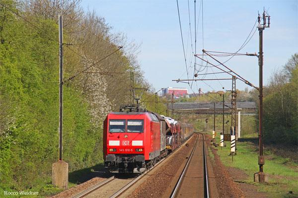 145 010 mit EZ 44284 Einsiedlerhof - Gevrey-Triage,  Neunkirchen-Sinnerthal 21.04.2016
