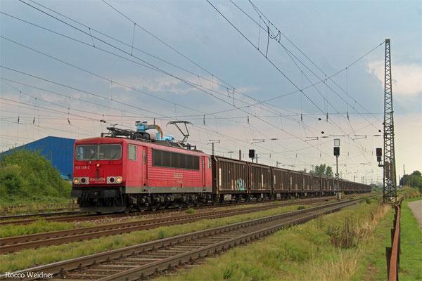155 128 mit GA 62200 (Irun/E) Saarbrücken Rbf Nord - Kassel Rbf (Sdl.Material), LU-Rheingönheim 20.08.2015