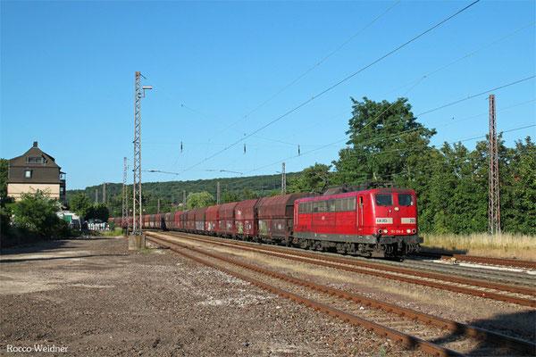 RBH 151 014 mit GM 62197 Neunkirchen(Saar) Hbf - Oberhausen West Orm (Maasvlakte/NL) (Sdl. leere Fal), Dudweiler 06.07.2015
