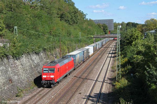 145 050 mit GA 52981 Saarbrücken Rbf Nord - Köln-Eifeltor Bez III, Saarbrücken 10.09.2015