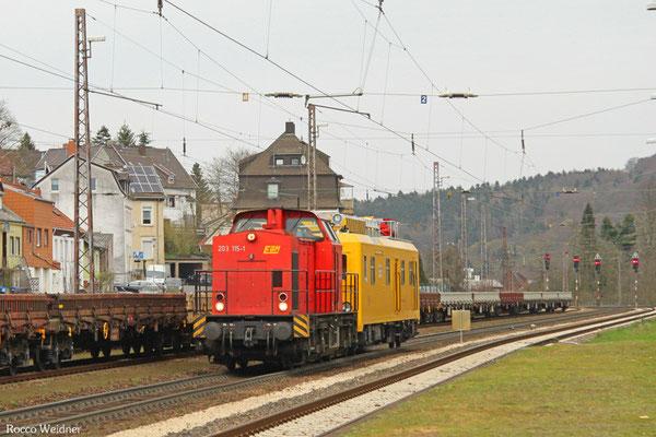 203 115 mit DGS 61460 Zwickau(Sachs) - Saarbrücken Rbf Nord (Sdl.), Dudweiler 03.04.2016