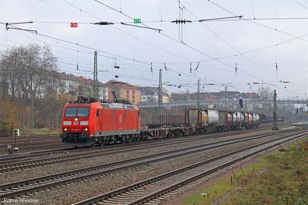 185 020 mit KT 41211 Bayonne/F - Köln-Eifeltor Bez III, SB-Burbach 25.11.2015