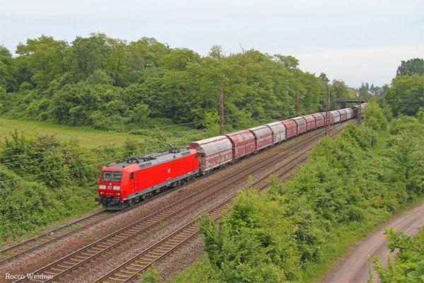 185 168 mit GM 60561 Auersmacher - Dillingen Zenralkokerei (Kalk), Saarlouis-Roden 16.05.2015