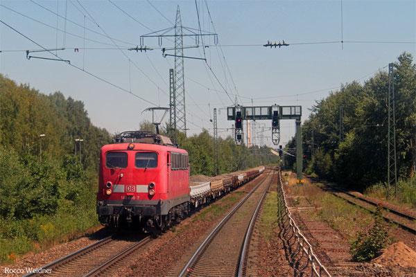DB Fahrwegdienste 140 808 mit Bauz 75677 Heilbronn-Klingenberg - Homburg(Saar) (Sdl.), Einsiedlerhof 03.08.2015