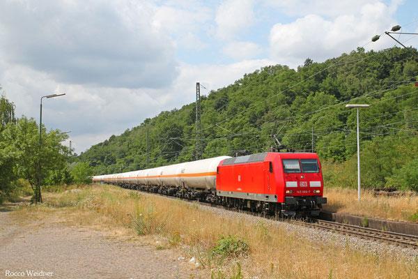 145 066 mit XP 49248 Hüls AG - Forbach/F (Creutzwald), Luisenthal(Saar) 09.07.2015