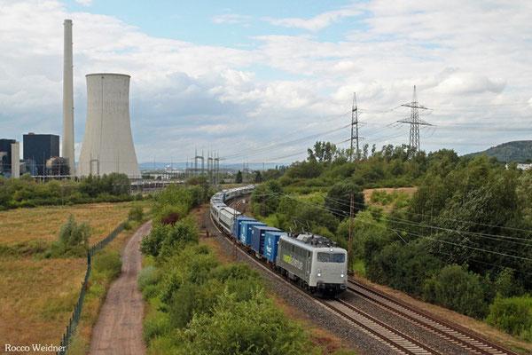 """139 558 mit DbZ 83044 Viersen Gbf - Luisenthal(Saar) (Sdl. Überführung Class 700 """"Thameslink""""), Ensdorf(Saar) 27.07.2015"""