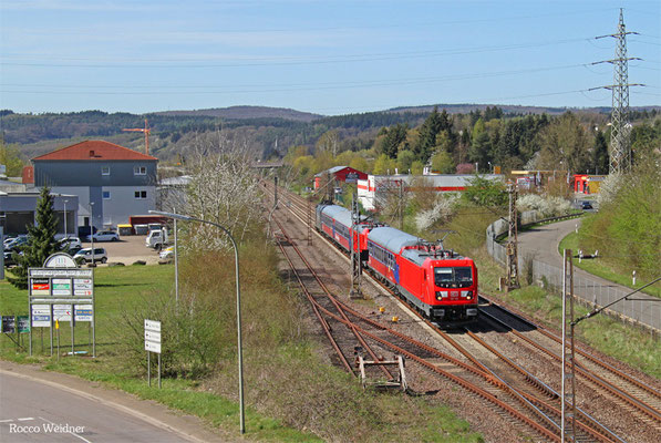 187 102 mit Mess ST 92624 Mettlach - Merzig (Bombardier Versuchsfahrten),Merzig 15.04.2015