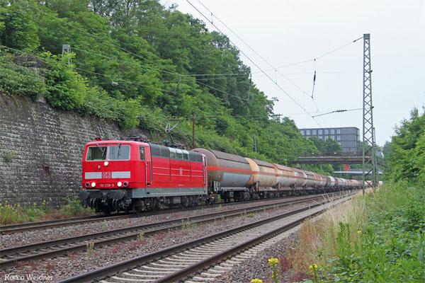 181 218 mit GC 44424 (Pančevo/SBR) Passau Gbf - Forbach/F (Sarralbe) (Sdl.Kohlenwasserstoff), Saarbrücken 19.06.2015