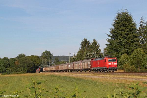 185 037 mit GA 44424 Mannheim Rbf Gr. G - Forbach/F (Sdl. SRA Material), Bruchmühlbach 31.07.2015