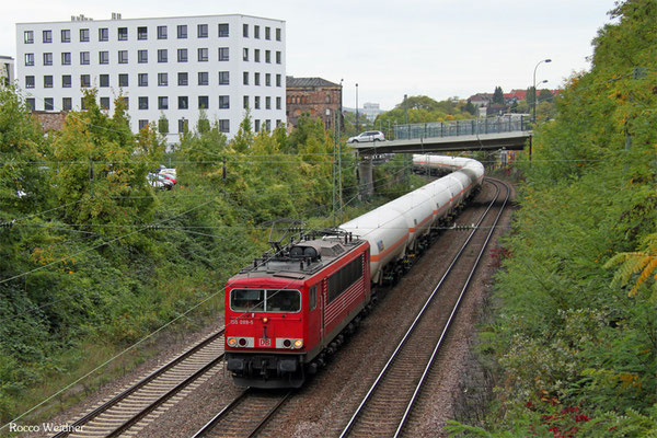 155 099 mit XP Hüls AG - Creutzwald/F, Saarbrücken 08.10.2015