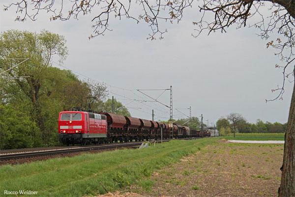181 218 mit EZ 51910 Mannheim Rbf Gr.G - Saarbrücken Rbf Nord, Böhl-Iggelheim 25.04.2015