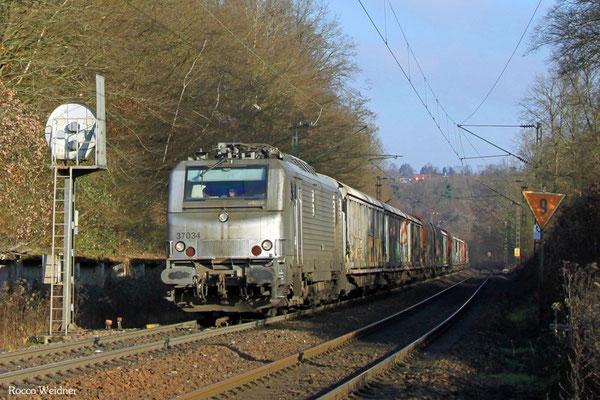 BB37034 mit DGS 47214 Worms Gbf - Forbach/F, Saarbrücken 30.12.2015