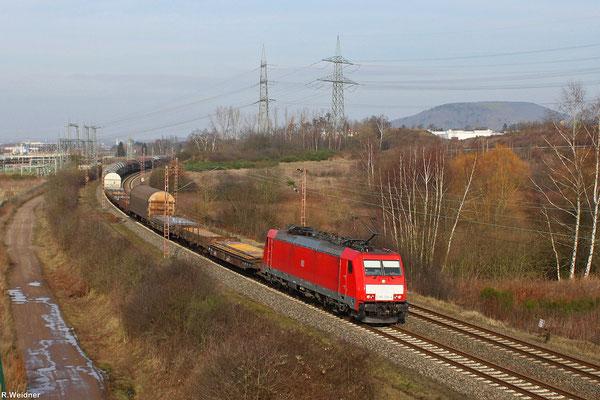 186 336 mit EZ 50906 Dillingen(Saar) - Mannheim Rbf am 30.01.14 bei Ensdorf (Sdl.Frachten)