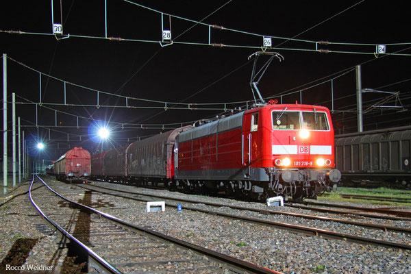 181 218 mit SY 47530 Saarbrücken Rbf Nord - Forbach/F, Forbach Triage 18.04.2015