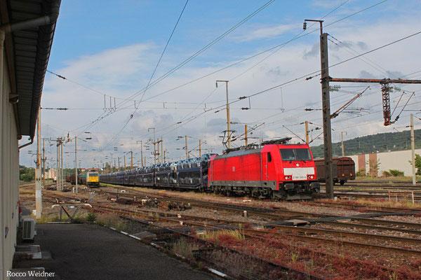 186 340 mit GA 44438 Friedrichstal(Saar) - Forbach/F (Gevrey) (Sdl.PKW), Forbach 29.05.2015
