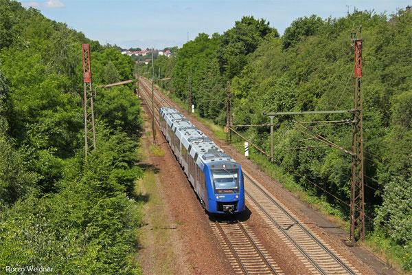 VLEXX  620 904 als RE 29515 Saarbrücken Hbf - Frankfurt/Main Hbf, Neunkirchen-Sinnertal 17.06.2015