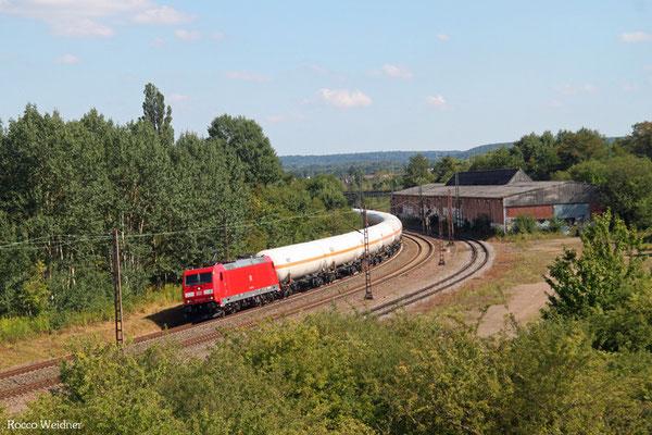 185 240 mit GC 98810 Saarbrücken-Burbach - Hüls AG (Sdl.Butadiene, ex 44432 aus Creutzwald), Bous 05.08.2015