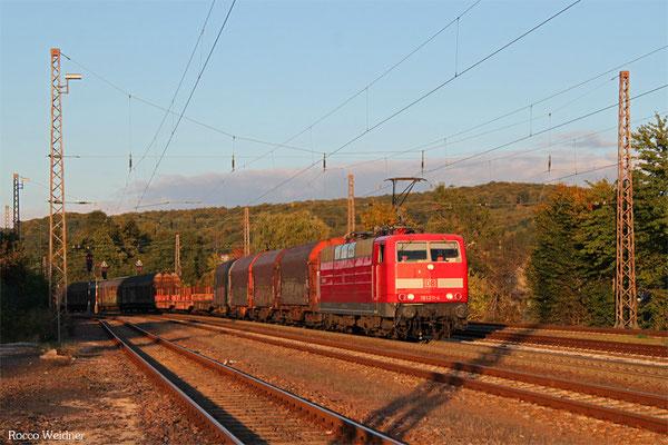 181 211 mit EZ 51912 Mannheim Rbf Gr.G - Saarbrücken Rbf Nord, Dudweiler 04.10.2015