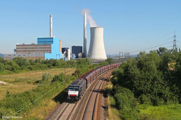 189 451 mit DGS 95091 Moers - Wemmetsweiler, Ensdorf 30.06.2015