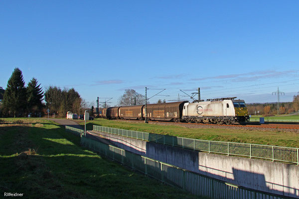 ECR 186 312 mit EZ 44405  Irun/E - Mannheim Rbf Gr.M (EV), Vogelbach 13.01.15