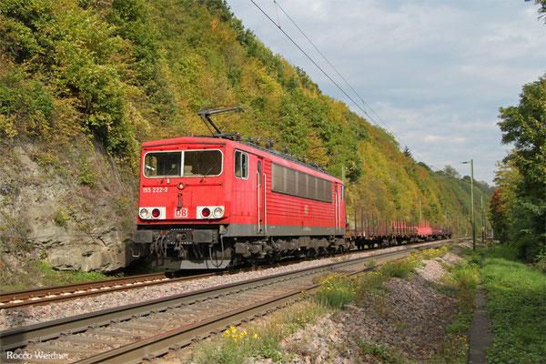 155 222 mit GM 60556 Saarbrücken Rbf West - Völklingen, 03.10.2015