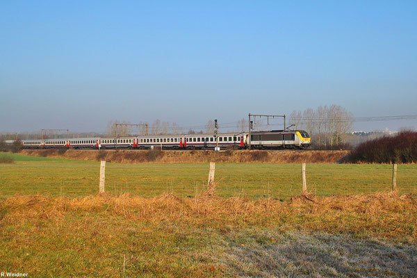 NMBS/SNCB 1358 mit IC 91 Bruxelles-Midi - Basel SBB am 31.01.14
