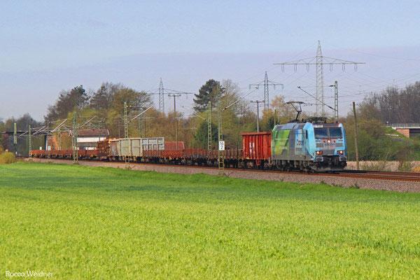 185 152 mit EZ 51919 Saarbrücken Rbf Ost - Mannheim Rbf Gr.M, Vogelbach 19.04.2016