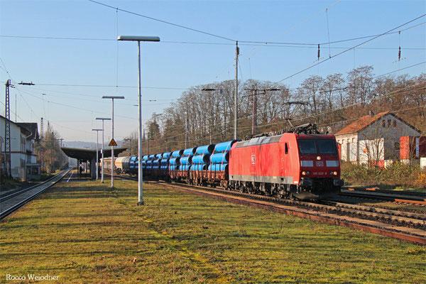 185 028 mit EZ 44241 Woippy/F - Mannheim Rbf Gr.M, Dudweiler 08.12.2015